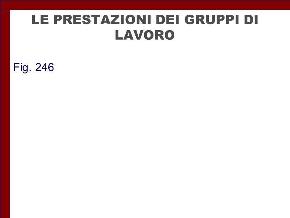 LE PRESTAZIONI DEI GRUPPI DI LAVORO Fig. 246