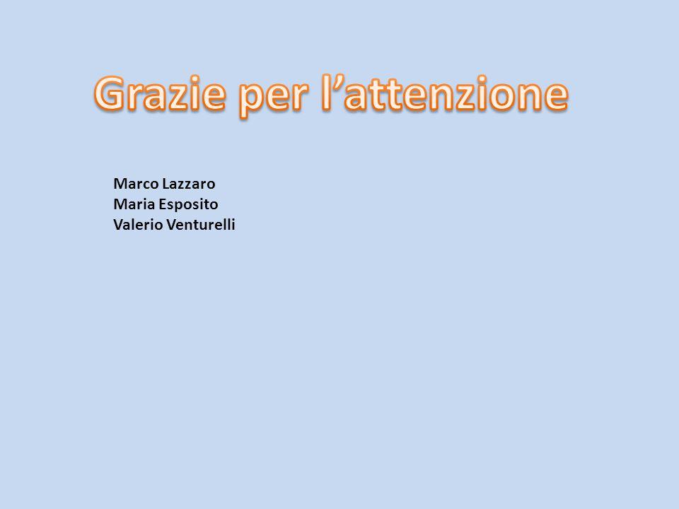 Marco Lazzaro Maria Esposito Valerio Venturelli