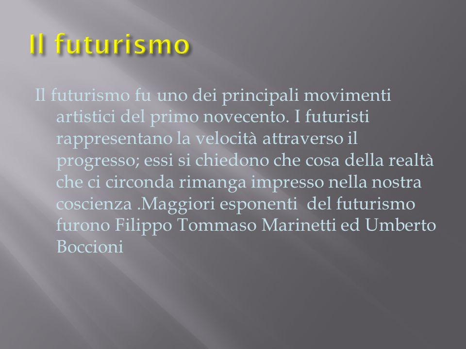 Il futurismo fu uno dei principali movimenti artistici del primo novecento.