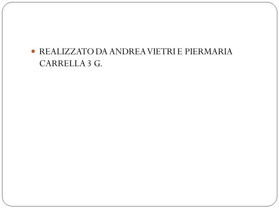 REALIZZATO DA ANDREA VIETRI E PIERMARIA CARRELLA 3 G.
