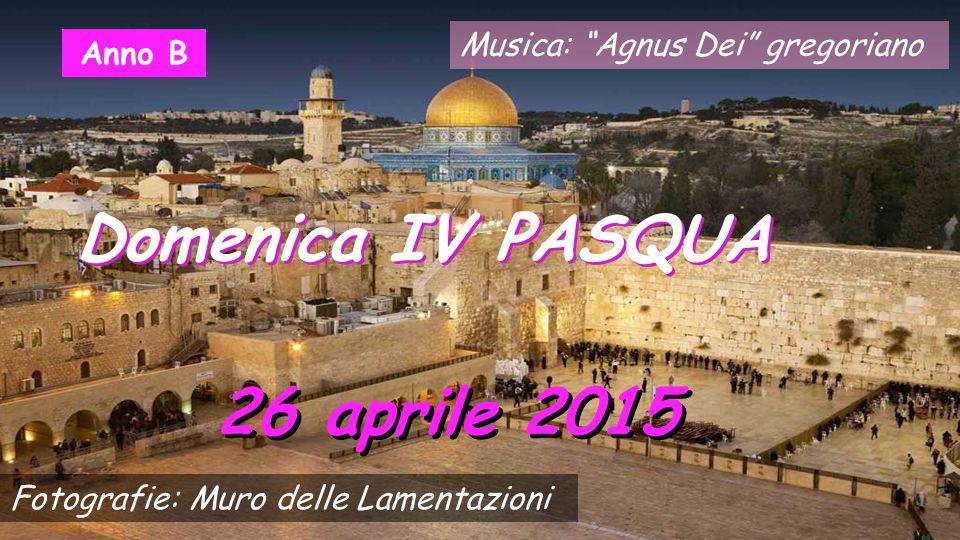 Musica: Agnus Dei gregoriano 26 aprile 2015 Domenica IV PASQUA Anno B Fotografie: Muro delle Lamentazioni
