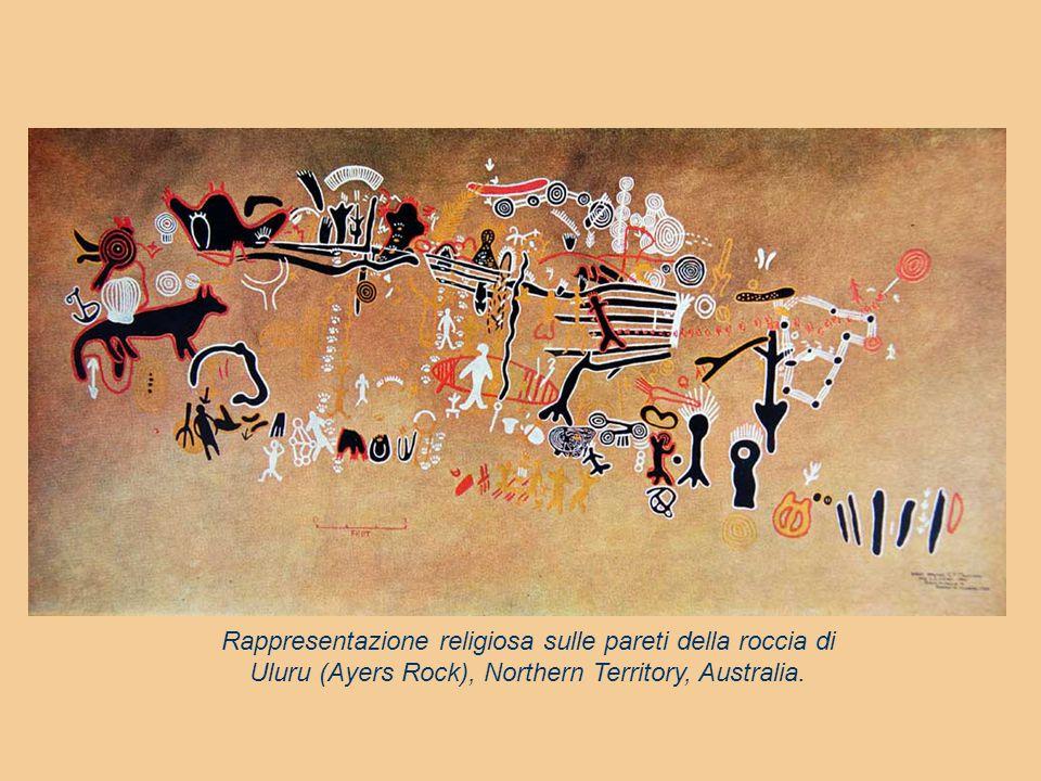 IL MARCHIO TOTEMICO Il marchio totemico viene impresso sul corpo: presso gli Arunta (clan della pioggia) il rito d'iniziazione prevede la rottura dell'incisivo superiore destro, per somiglianza con le nuvole nere che portano acqua.