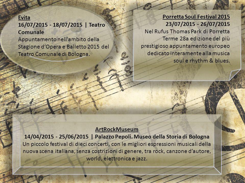 Evita 16/07/2015 - 18/07/2015 | Teatro Comunale Appuntamento nell'ambito della Stagione d'Opera e Balletto 2015 del Teatro Comunale di Bologna. Porret