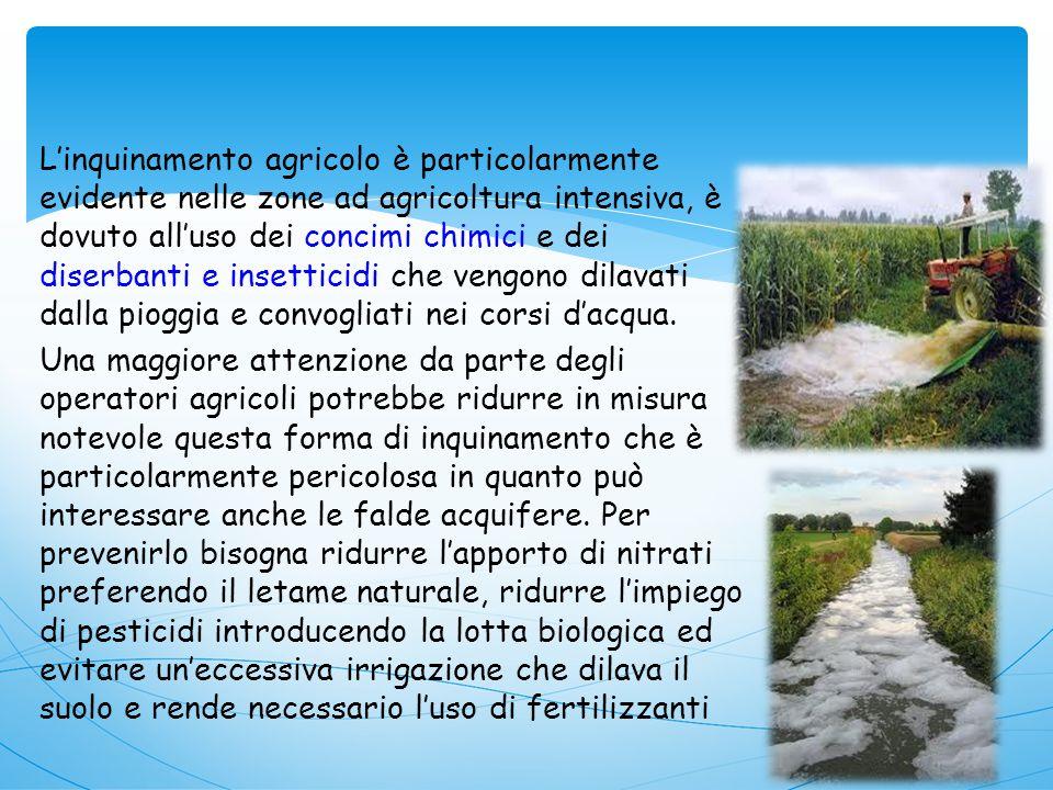 Inquinamento agricolo … Indice