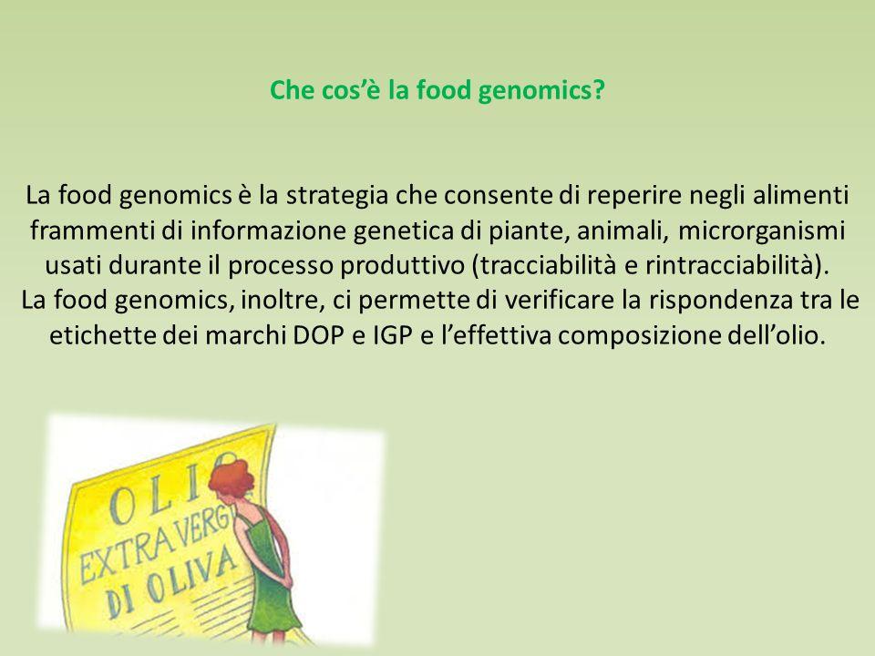 Che cos'è la food genomics.