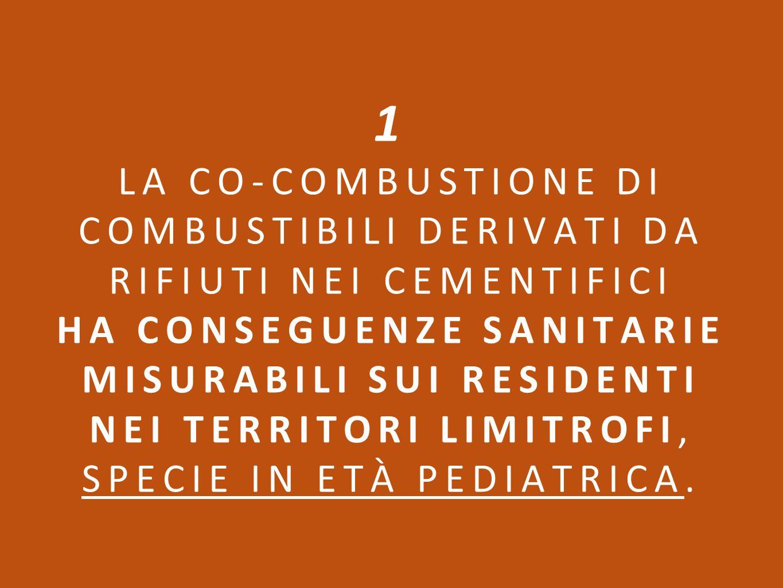 Innanzi tutto bisogna ricordare che i cementifici sono classificati come industrie insalubri di classe 1 (Decreto Ministero Sanità 5 settembre 1994).