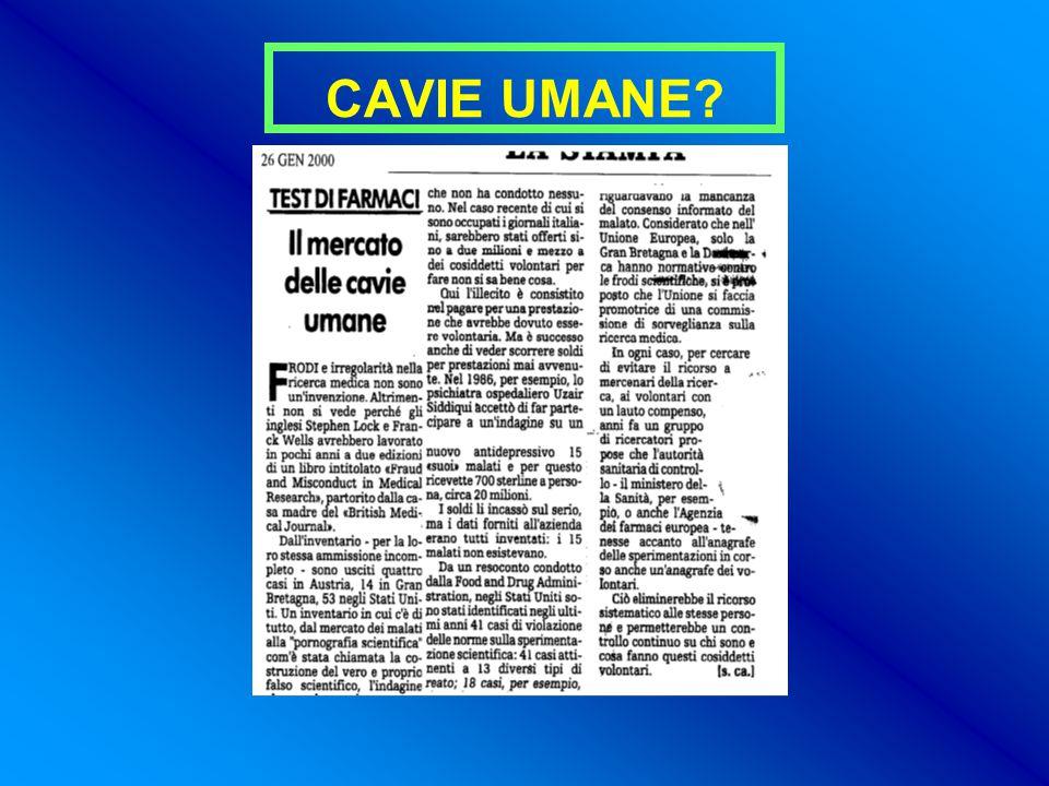 CAVIE UMANE?