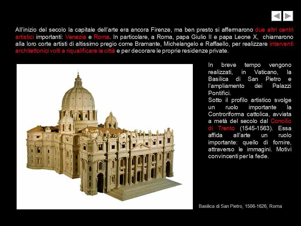 All'inizio del secolo la capitale dell'arte era ancora Firenze, ma ben presto si affermarono due altri centri artistici importanti: Venezia e Roma. In