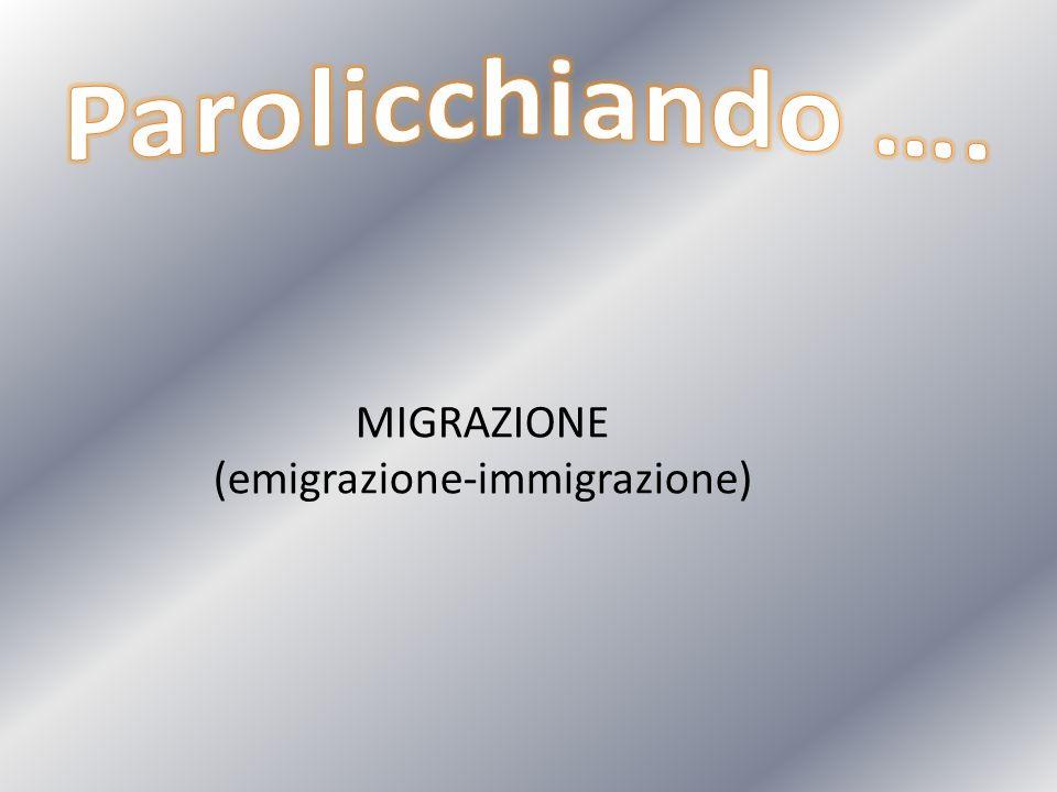 MIGRAZIONE (emigrazione-immigrazione)