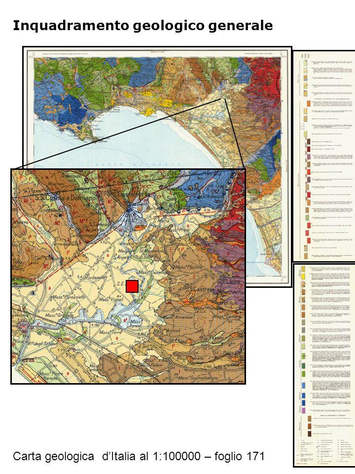 Inquadramento geologico generale Carta geologica d'Italia al 1:100000 – foglio 171