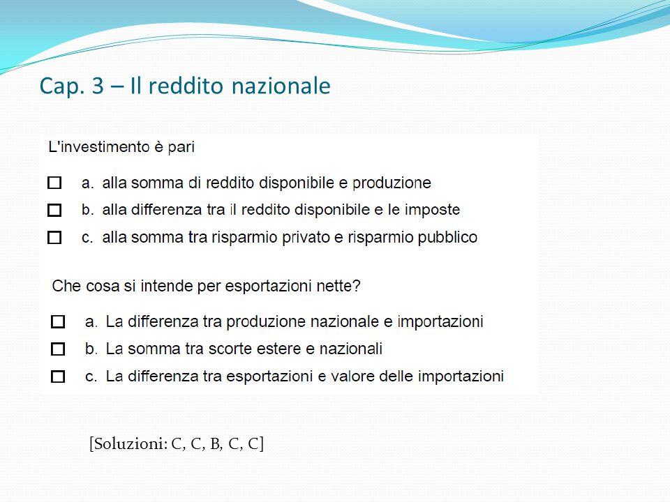 Cap. 3 – Il reddito nazionale [ Soluzione: Y*= 1725; Y*'=1850]