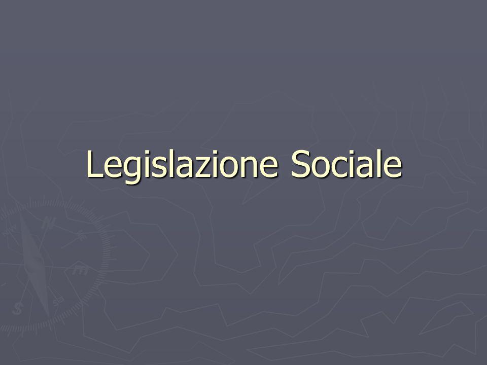 Legislazione Sociale