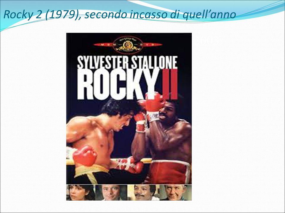 Rocky 2 (1979), secondo incasso di quell'anno Honey, 2003