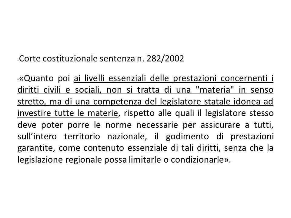 Corte costituzionale sentenza n.