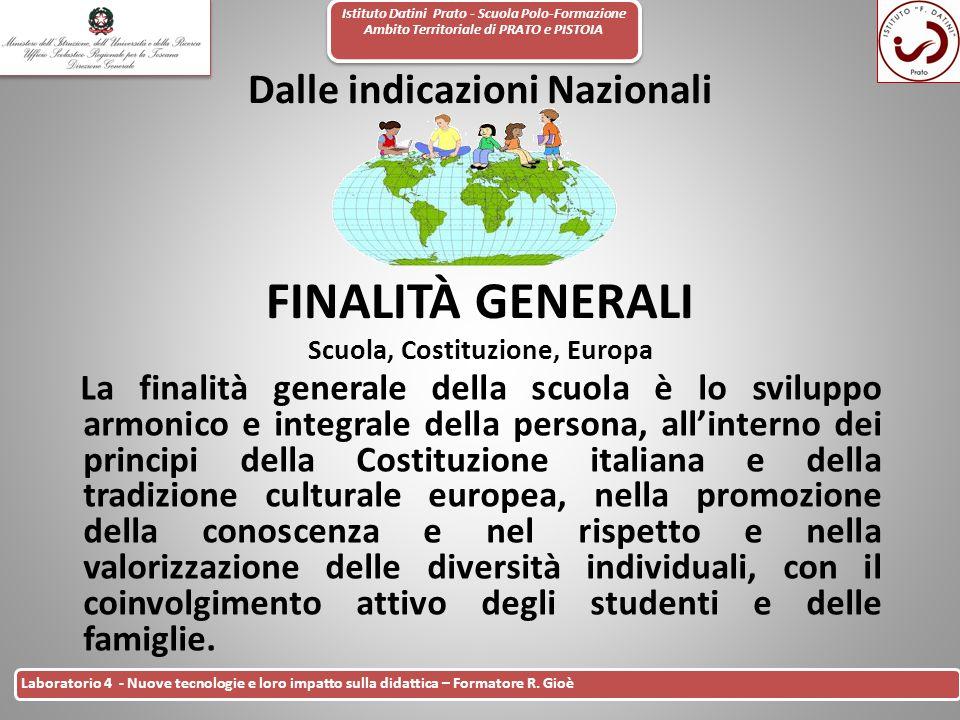 Istituto Datini Prato - Scuola Polo-Formazione Ambito Territoriale di PRATO e PISTOIA 1 Laboratorio 4 - Nuove tecnologie e loro impatto sulla didattic