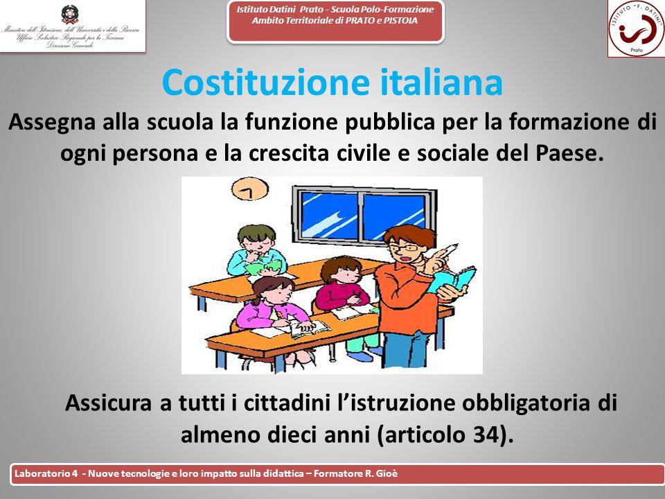 Istituto Datini Prato - Scuola Polo-Formazione Ambito Territoriale di PRATO e PISTOIA 2 Laboratorio 4 - Nuove tecnologie e loro impatto sulla didattic