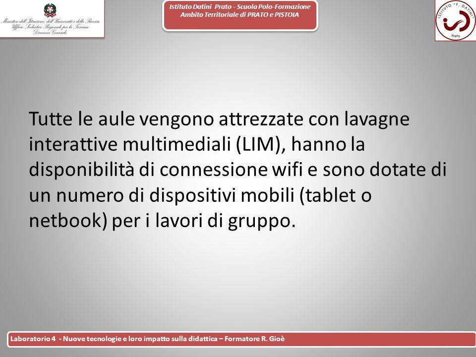 Istituto Datini Prato - Scuola Polo-Formazione Ambito Territoriale di PRATO e PISTOIA 26 Laboratorio 4 - Nuove tecnologie e loro impatto sulla didatti