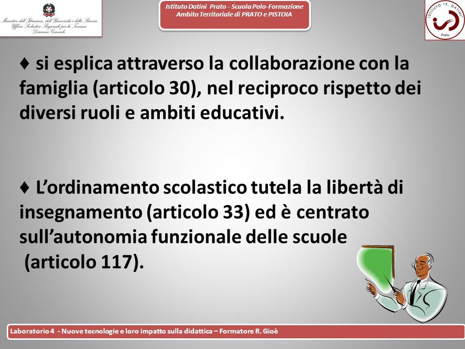 Istituto Datini Prato - Scuola Polo-Formazione Ambito Territoriale di PRATO e PISTOIA 4 Laboratorio 4 - Nuove tecnologie e loro impatto sulla didattic