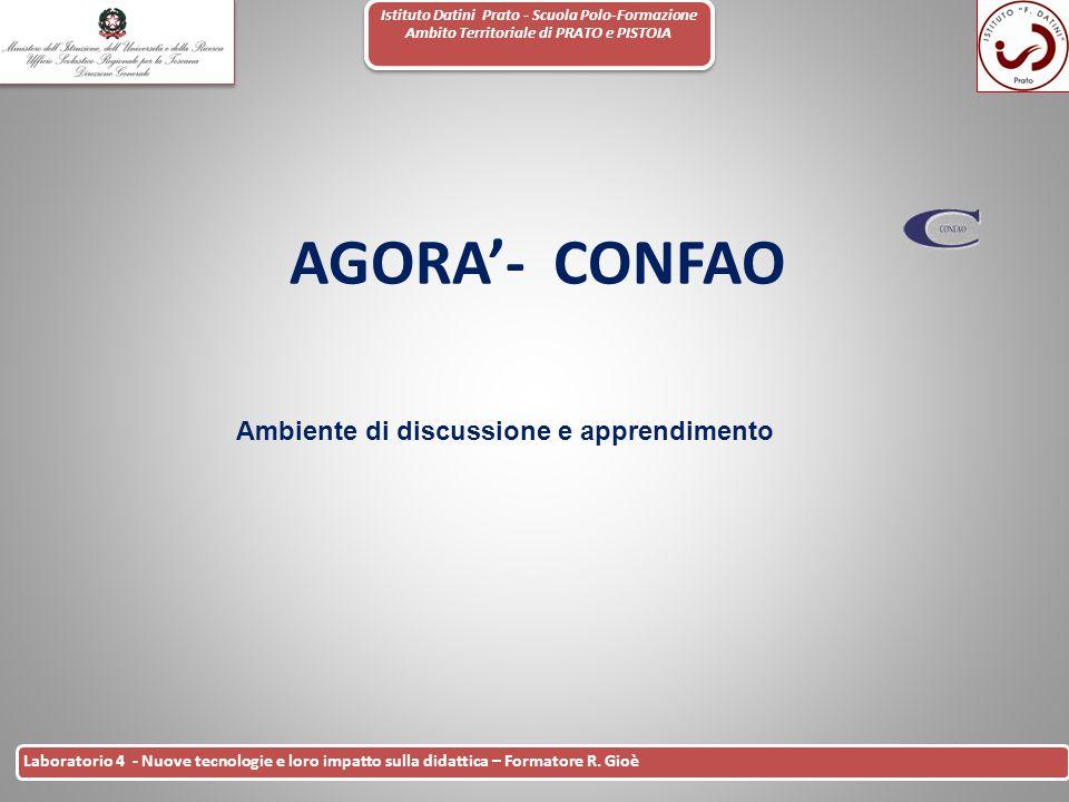 Istituto Datini Prato - Scuola Polo-Formazione Ambito Territoriale di PRATO e PISTOIA 40 Laboratorio 4 - Nuove tecnologie e loro impatto sulla didatti