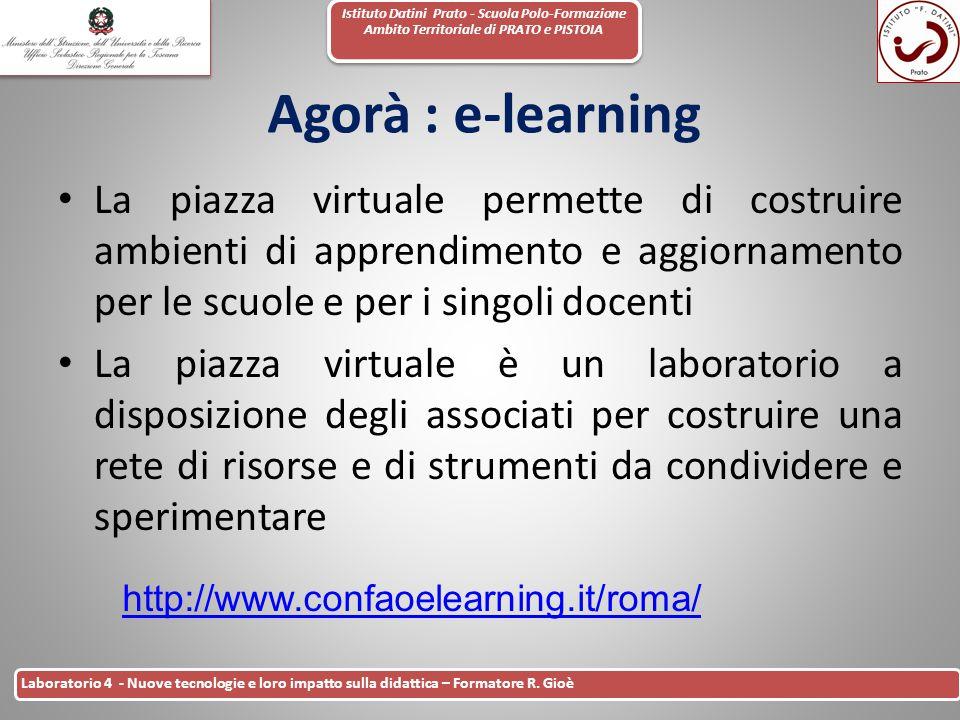 Istituto Datini Prato - Scuola Polo-Formazione Ambito Territoriale di PRATO e PISTOIA 43 Laboratorio 4 - Nuove tecnologie e loro impatto sulla didatti