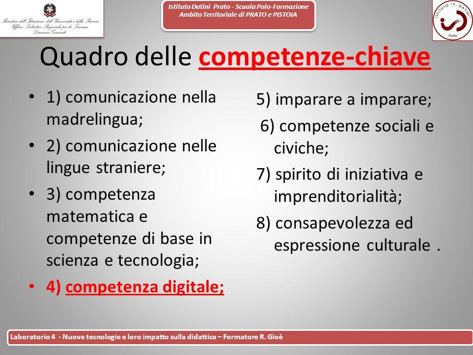 Istituto Datini Prato - Scuola Polo-Formazione Ambito Territoriale di PRATO e PISTOIA 8 Laboratorio 4 - Nuove tecnologie e loro impatto sulla didattic