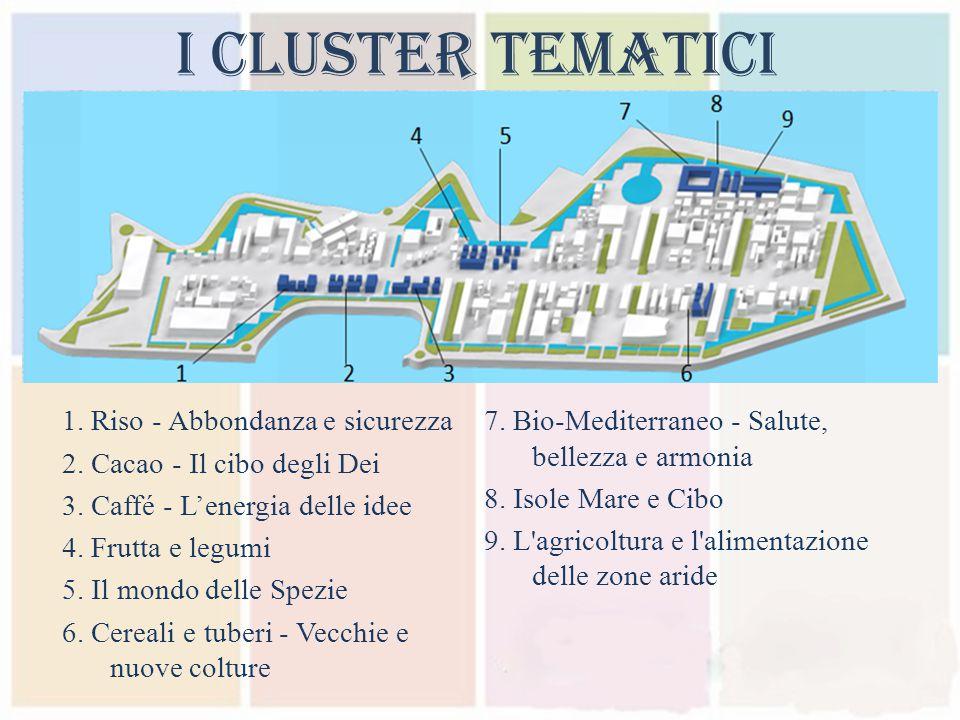 I Cluster Tematici 1. Riso - Abbondanza e sicurezza 2.