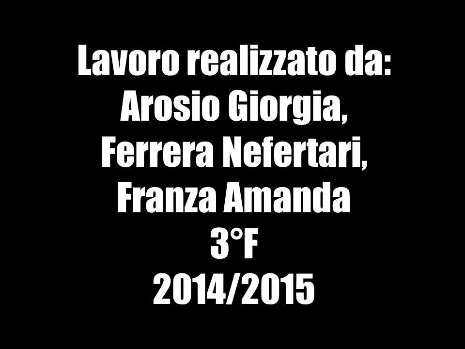 Lavoro realizzato da: Arosio Giorgia, Ferrera Nefertari, Franza Amanda 3°F 2014/2015