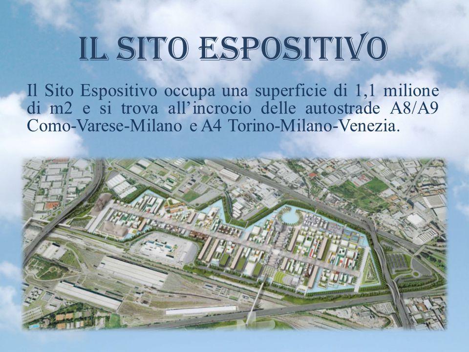 Il Sito Espositivo Il Sito Espositivo occupa una superficie di 1,1 milione di m2 e si trova all'incrocio delle autostrade A8/A9 Como-Varese-Milano e A