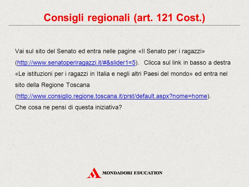 Vai sul sito del Senato ed entra nelle pagine «Il Senato per i ragazzi» (http://www.senatoperiragazzi.it/#&slider1=5).