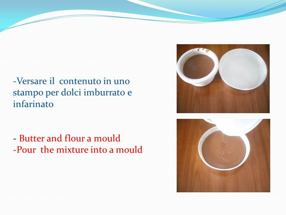 -Aggiungere il latte e lievito -Battere con il mixer -Add the baking powder and the milk -Mix all the ingredients