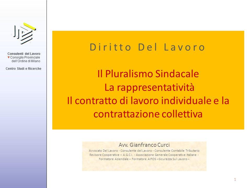 Il Contratto di lavoro subordinato Nozione di contratto – L'art.