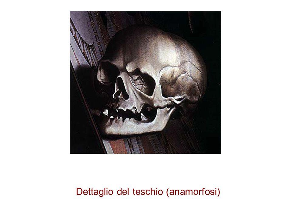 Dettaglio del teschio (anamorfosi)