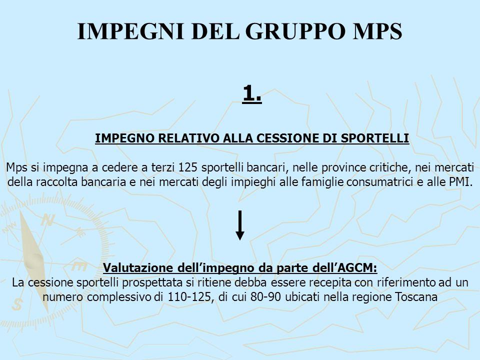 IMPEGNI DEL GRUPPO MPS 1.