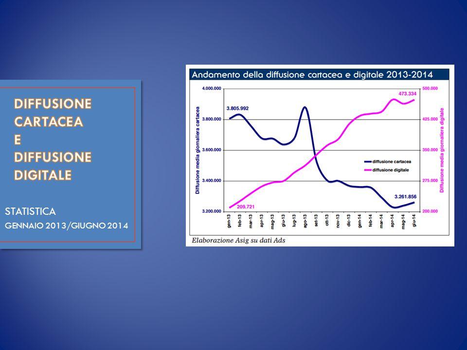 STATISTICA GENNAIO 2013/GIUGNO 2014