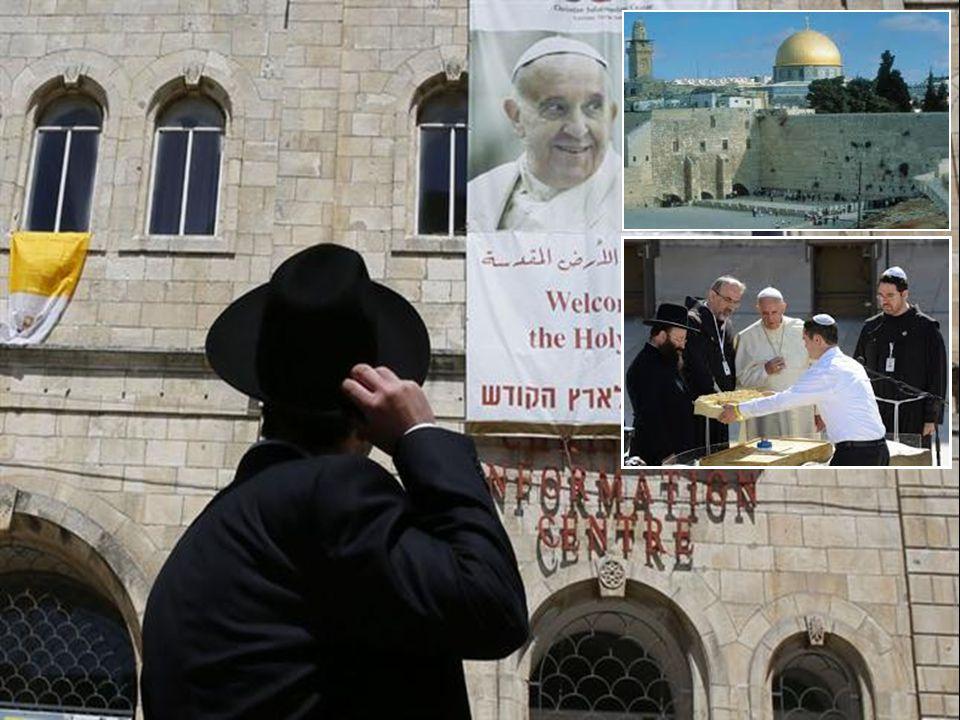 DAL DISCORSO DEL SANTO PADRE FRANCESCO DAL DISCORSO DEL SANTO PADRE FRANCESCO Stimati Gran Rabbini di Israele, fratelli e sorelle.