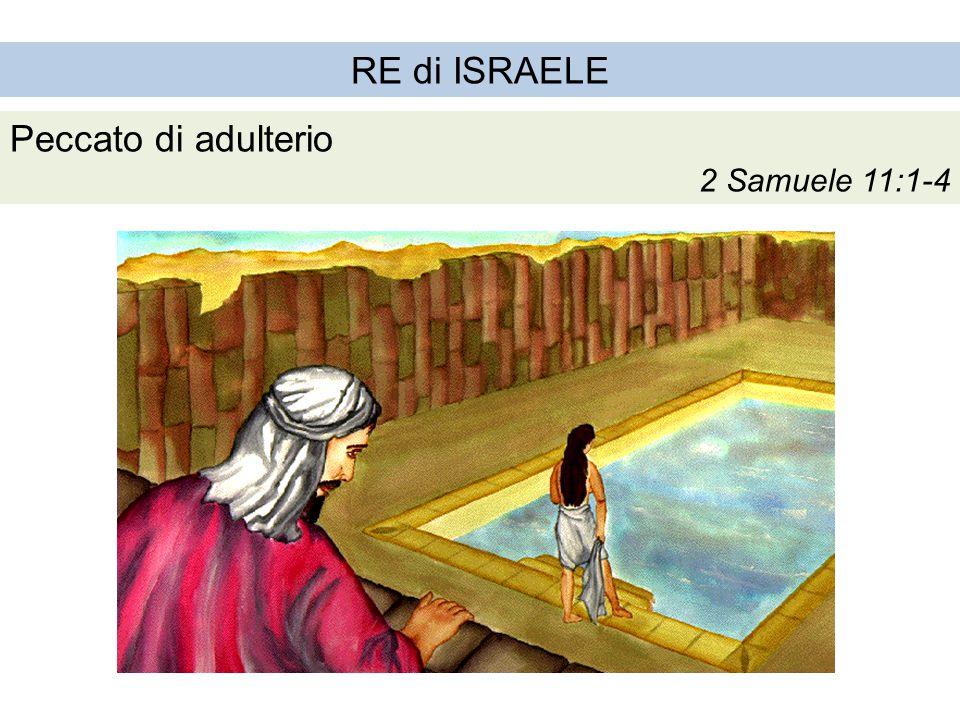 RE di ISRAELE Peccato di adulterio 2 Samuele 11:1-4