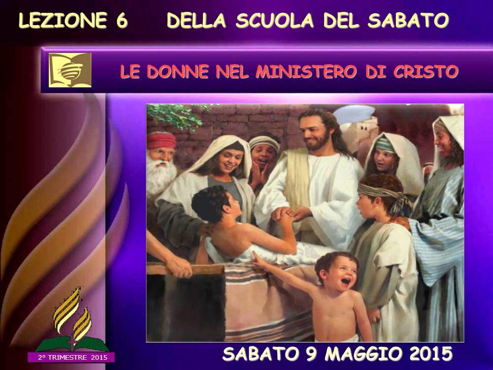 Furono coinvolte alla sua nascita (Maria, Elisabetta e Anna) Furono stimate da Gesù (la vedova di Nain) Servirono Gesù nel suo ministero e alla sua morte (Marta, Giovanna...