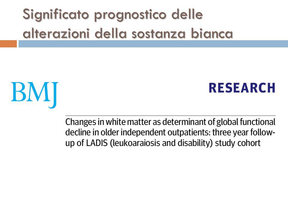 Significato prognostico delle alterazioni della sostanza bianca