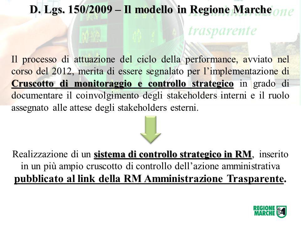 Cruscotto di monitoraggio e controllo strategico Il processo di attuazione del ciclo della performance, avviato nel corso del 2012, merita di essere s