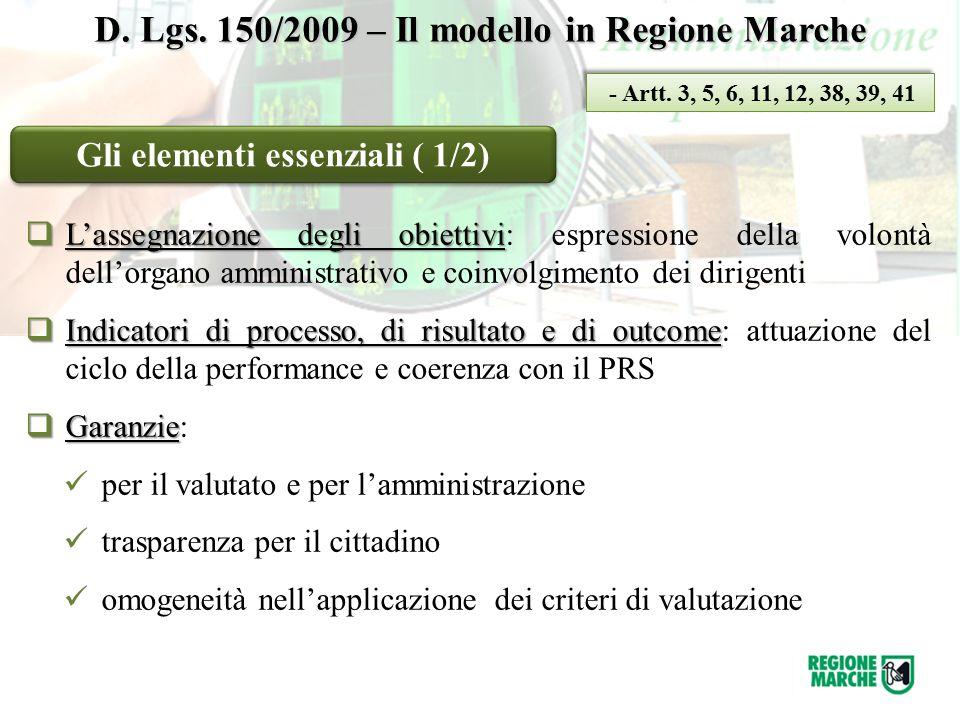 Gli elementi essenziali ( 1/2)  L'assegnazione degli obiettivi  L'assegnazione degli obiettivi: espressione della volontà dell'organo amministrativo