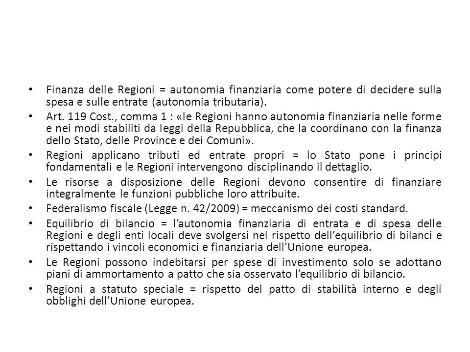 I controlli dello Stato sulle Regioni.Art.