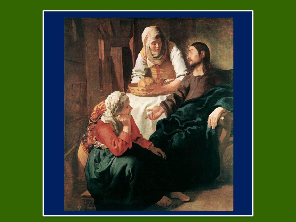 Ma il Signore le rispose: «Marta, Marta, tu ti affanni e ti agiti per molte cose, ma di una cosa sola c'è bisogno.