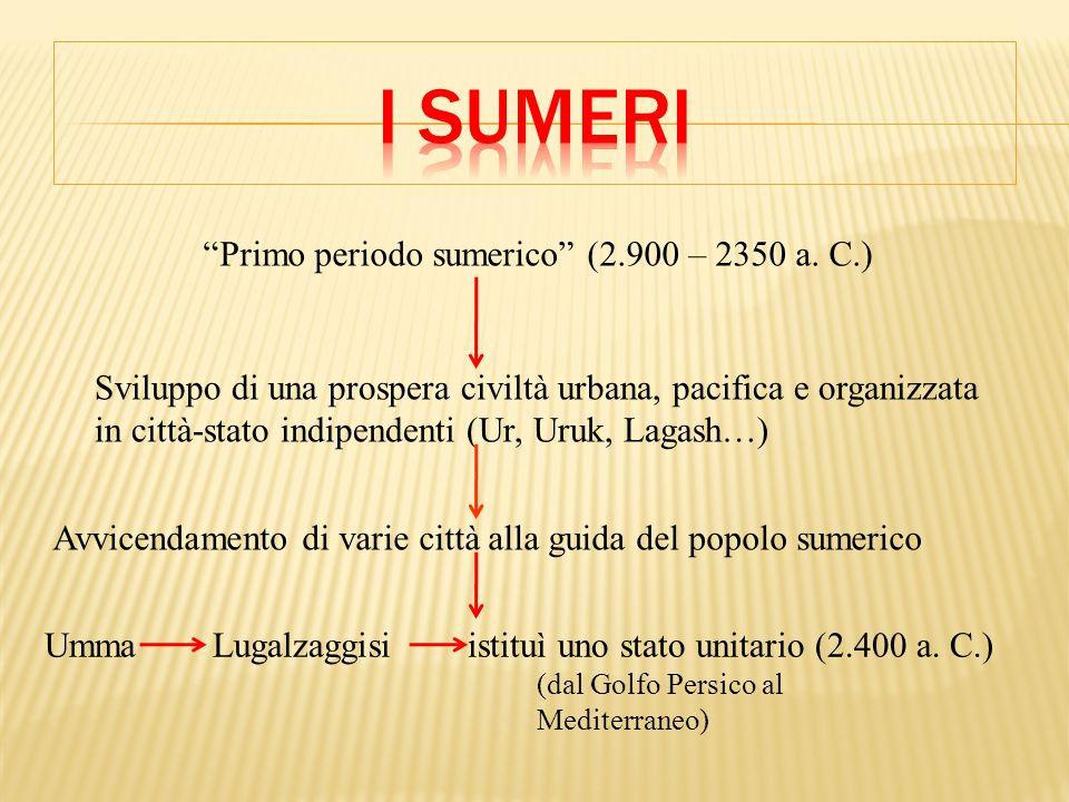 Primo periodo sumerico (2.900 – 2350 a.