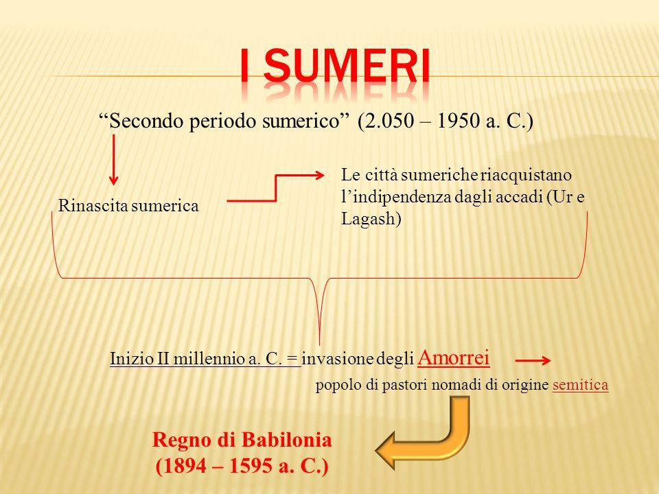 Secondo periodo sumerico (2.050 – 1950 a.