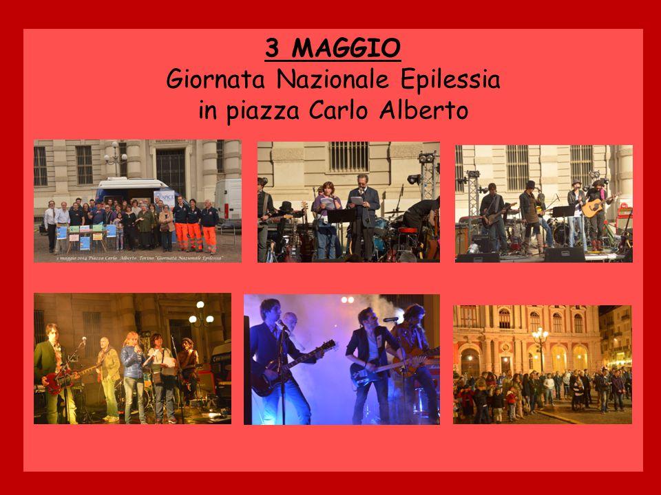 3 MAGGIO Giornata Nazionale Epilessia in piazza Carlo Alberto