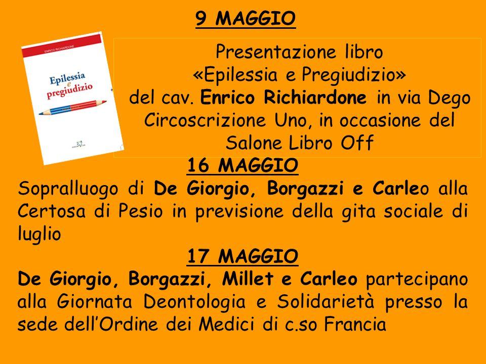 Presentazione libro «Epilessia e Pregiudizio» del cav.