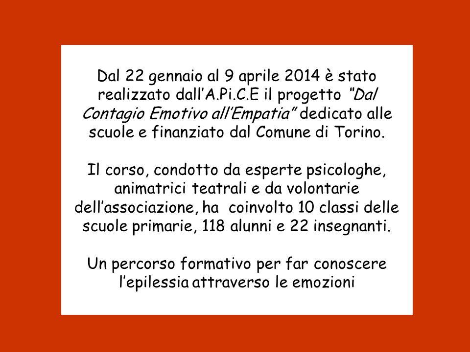 """Dal 22 gennaio al 9 aprile 2014 è stato realizzato dall'A.Pi.C.E il progetto """"Dal Contagio Emotivo all'Empatia"""" dedicato alle scuole e finanziato dal"""