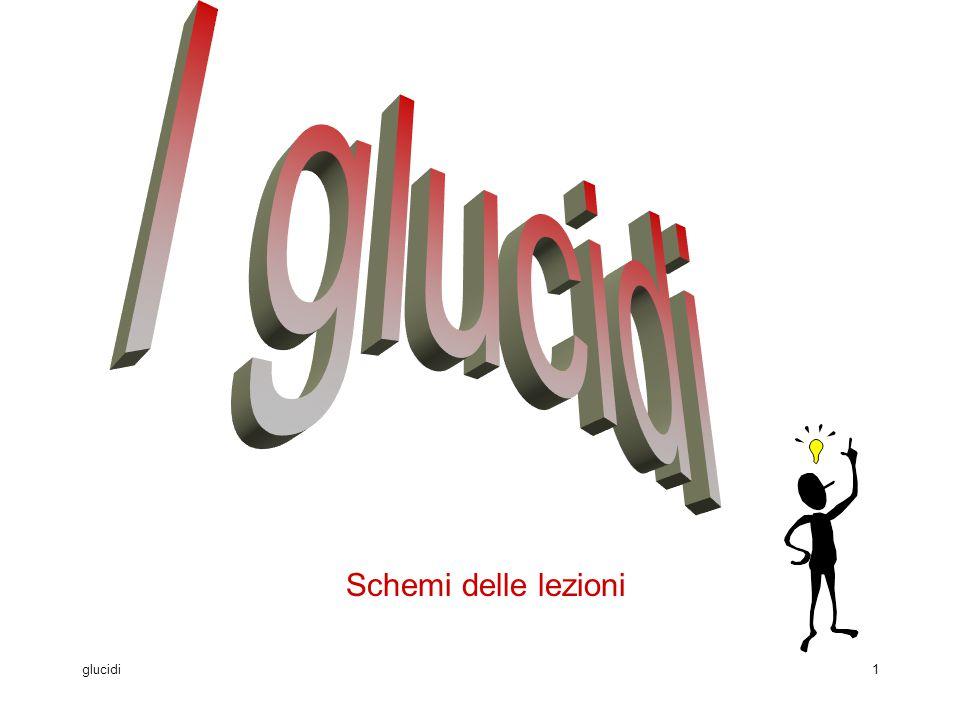 glucidi1 Schemi delle lezioni