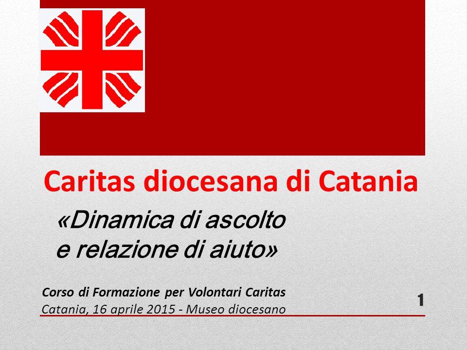 Caritas diocesana di Catania «Dinamica di ascolto e relazione di aiuto» Corso di Formazione per Volontari Caritas Catania, 16 aprile 2015 - Museo dioc