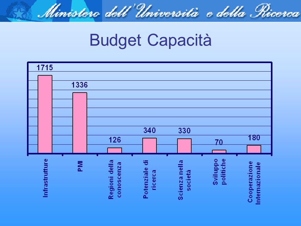Budget Capacità